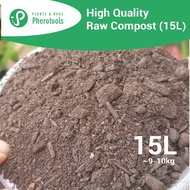 Raw Compost 15L Organic Soil Conditioner for Potting Soil / Tanah