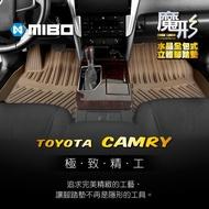 3W 豐田TOYOTA Camry 2011~2018年 3片式 (黑色)  魔形水晶全包式立體腳踏墊