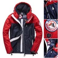 現貨 正品 極度乾燥 Superdry Master Wind Trekker 進階滑雪衣 防風水 風衣 外套 藍紅