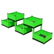 【組合式種菜箱-5聯立體-40*200*49cm高-1套/組】PP環保塑膠 屋頂陽臺菜園立體組合種菜盆-5101024