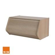 【特力屋】日本 IRIS 木質可掀門堆疊櫃 W60xH30cm 淺木色