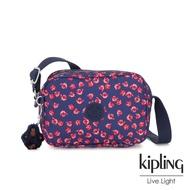 Kipling 古典茜紅小花側背方包-DEE