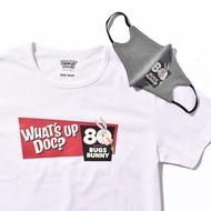 โปรโมชั่น เสื้อยืด T-SHIRT ลาย 80 YEARS BUG BUNNY สี WHITE + MASK ANTIVIRUS ลดกระหน่ำ เสื้อยืด เสื้อยืดผู้ชาย เสื้อยืด oversize เสื้อยืดวินเทจ เสื้อยืดสาวอวบ