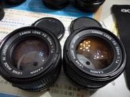 CANON FD 50MM 1.4 鏡頭兩顆
