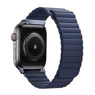 Promate Apple Watch 42/44mm 高質感磁吸式錶帶(Lavish)藍