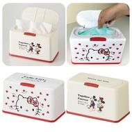 日本SKATER衛生紙收納盒口罩收納盒面紙紙巾儲存盒按壓彈蓋三麗鷗凱蒂貓米奇米妮