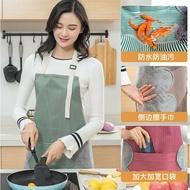 日式防水可擦手圍裙可調節防油做飯罩衣廚房時尚家用成人女圍腰圍裙做飯圍兜批發