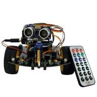 ◆教學機器人【智慧自走車 Arduino機器人】循跡自走、超音波避障 教育機器人 智慧小車 51小車 自能小車◆