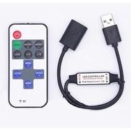 USB RF遙控模式變化控制器 單色LED含遙控器迷你控制器