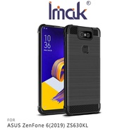 【愛瘋潮】99免運 Imak ASUS ZenFone 6(2019) ZS630KL Vega 碳纖維紋套 四角氣囊 鏡頭保護 TPU套 背蓋式