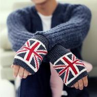 經典時尚國旗造型保暖百搭半指手套