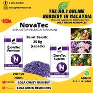 Compo Expert NovaTec® Premium 15-3-20(+2+TE) & NovaTec® Suprem 21-5-10(+3+TE) [Baja Untuk Pelbagai Tanaman] 25Kg