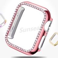 [NP] เพชรเคสกันกระแทกสำหรับApple Watch Screen Protector Full CoverageเคสกันกระแทกI-กรอบนาฬิกาโดยรวมกระจกอุณหภูมิสำหรับWatchSeries 5 4 3 2 1 38มม.42MM40mm 44มม.สำหรับสาวนาฬิกาอุปกรณ์เสริม