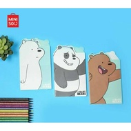 We Bare Bears Memo Book Miniso