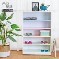 【南亞塑鋼】2.2尺開放式五格收納櫃/置物櫃/鞋櫃(彩色板)