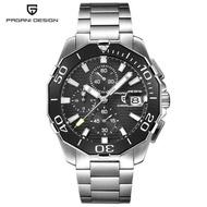 PAGANI DESIGN แฟชั่นสแตนเลสแบบสบายๆนาฬิกาแบรนด์หรูผู้ชาย Chronograph Sport กันน้ำญี่ปุ่นควอตซ์นาฬิกาข้อมือผู้ชายนาฬิกาของขวัญกล่อง PD-1617