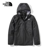 The North Face北面男款黑色戶外防水透氣三合一外套 3VSIJK3
