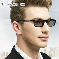 TR90 Fashion Men's Classic Square Transition photochromic Brand Luxury Anti-UV reading glasses  diopter glasses FML