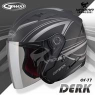 加贈好禮 GMAX安全帽 OF77 DERK 消光黑銀【LED警示燈】半罩式 3/4罩 SOL SO7 SO-7耀瑪騎士機車部品