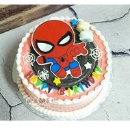 🔴鹹魚吃蛋糕二館-平面蜘蛛人▶急單和下標前先聊聊、可宅配、造型蛋糕、相片蛋糕、創意蛋糕、台中造型蛋糕、生日蛋糕、蜘蛛人