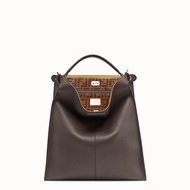 Fendi PEEKABOO X-LITE FIT 棕色皮革手袋  7VA447A6FWF1645