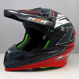 M2R Revelation X4.5 #15 | 23番 消光黑紅 全罩 越野帽 安全帽 極輕量旗艦級 送風鏡