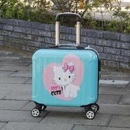 เครื่องบิน กระเป๋าเดินทาง ชายหญิง16นิ้วขนาดเล็กน้ำหนักเบารถเข็นกระเป๋าเดินทางขนาดเล็กรหัสผ่านกล่องมินิน่ารัก