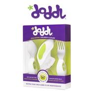 英國Doddl 人體工學設計 嬰幼兒學習餐具組(三件組)-綠
