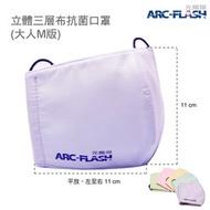 【福利品出清】ARC-FLASH光觸媒三層布口罩 (大人版-缺貨時恕不挑色) - 抗菌不臭、預防流感