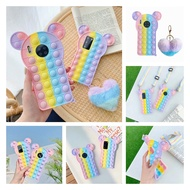Push Pop it Bubble Phone Case For Samsung Galaxy S10 S20 S21 Note 9 10 Plus 20 Ultra A10E A11 A12