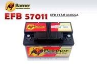 【竹北電池行】Banner紅牛電池 EFB 57011