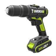 【WORX 威克士】20V 10mm鋰電雙速電鑽-雙電池套裝組(WU179)