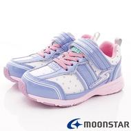★日本月星Moonstar機能童鞋閃電競速衝刺系列寬楦防水防滑運動鞋款9091紫(中大童段)
