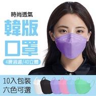 【格麥蛋糕】韓版KF94成人立體口罩40入(10入*袋/3D立體/防飛沫/防塵/防PM2.5/防疫/防護)