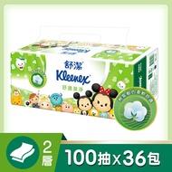 【舒潔】Tsum Tsum限定版 舒潔 迪士尼舒適潔淨抽取衛生紙100抽12包x3串/箱
