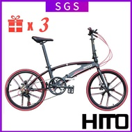 Hito X6 Folding Bicycle 20/22 Inch One-wheel Shimano Variable Speed Bicycle Aluminum Alloy Frame Foldable Bicycle
