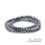 【Selene】鈦赫茲切角三圈能量手鍊(強大磁場能量石)