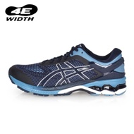 ASICS GEL-KAYANO 26男慢跑鞋-4E-路跑 寬楦 丈青藍黑白
