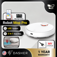 [GLOBAL VERSION] Xiaomi Robot Vacuum Mop Pro Smart Suction Cleaner 2 in 1 Mop Sweep Mi Home App Control Robotic Vacuum and Mop Cleaner with Malaysia 2-pin plug
