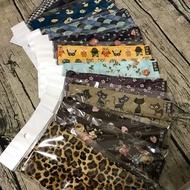 可換濾紙布口罩/可換濾材口罩/抓摺布口罩/純棉布口罩/三件組/任選花色/可塞濾材布口罩/新加鼻樑壓條