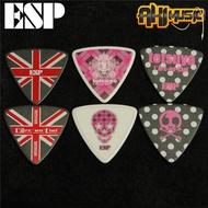 日產ESP Tetsuya L'Arc-en-Ciel 彩虹樂隊限量款吉他bass貝司撥片