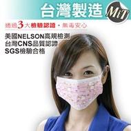 藍鷹牌 台灣製 成人彩色QQ羊 三層式無毒油墨水針布防塵口罩 50入/盒