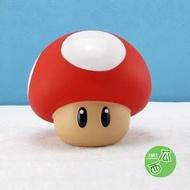 超級瑪莉 PS4瑪莉歐蘑菇塑膠存錢筒 綠蘑菇存錢罐 蘑菇公仔裝飾 香菇存錢筒 蘑菇公仔