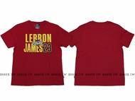 NBA【8730260-011】T恤 棉 克里夫蘭 騎士隊 LEBRON JAMES 23 名字 紅色
