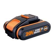 【WORX 威克士】20V鋰電池2.0Ah-橘(WA3551.1)