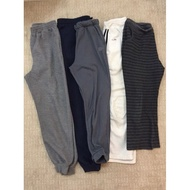 3 Helai RM10 Bundle Borong Jogger Pants Sweatpants Unisex Lelaki/Perempuan Gred B Japan Vintage Preloved