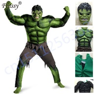 hulk costume kids boys incredible Children#39s Superheroes Avengers hulk Halloween muscle Green cosp