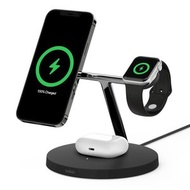 Belkin - [香港行貨] BOOST↑CHARGE™PRO MagSafe 3 合 1 無線充電器 黑色 iPhone 12 AirPods Apple Watch