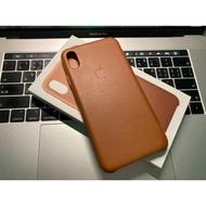 Iphone xs max 原廠皮革保護殼