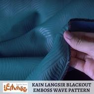 langsir tingkap murah 🤔kain langsir🤔 langsir blackout=langsir sliding door= 🏠Kain Langsir Embossed Blackout 98%🏠 Bid